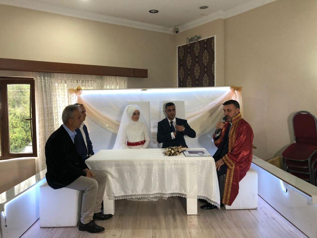 Başkanımız Özge ve Mehmet UĞUR Çiftinin Düğün Merasimine Katıldı