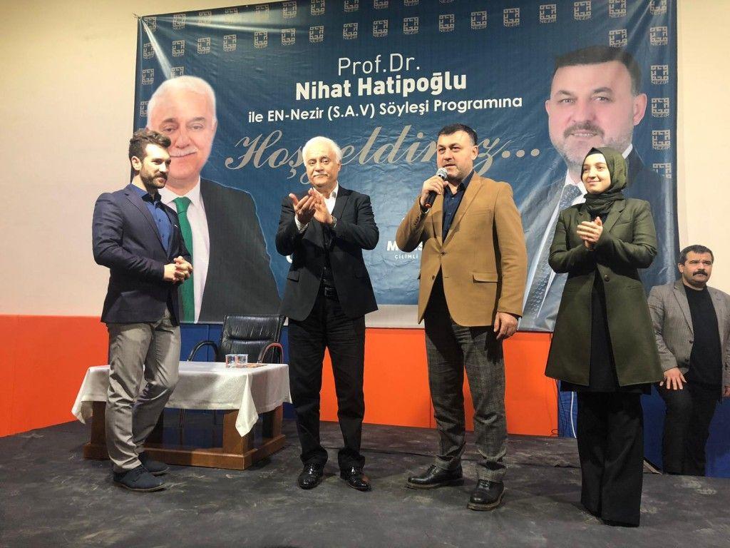 İlçemizde Prof. Dr. Nihat HATİPOĞLU Söyleşi Programı Gerçekleştirildi