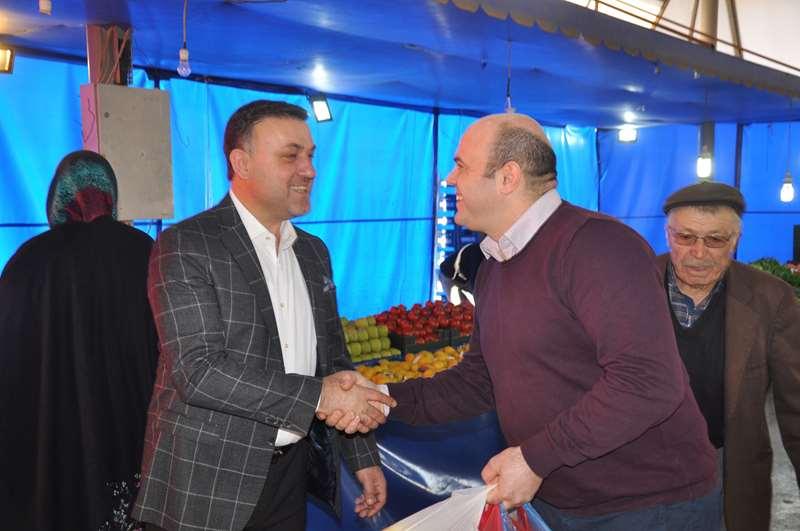 Belediye Başkanımız Pazar Esnafını Ziyaret Etti
