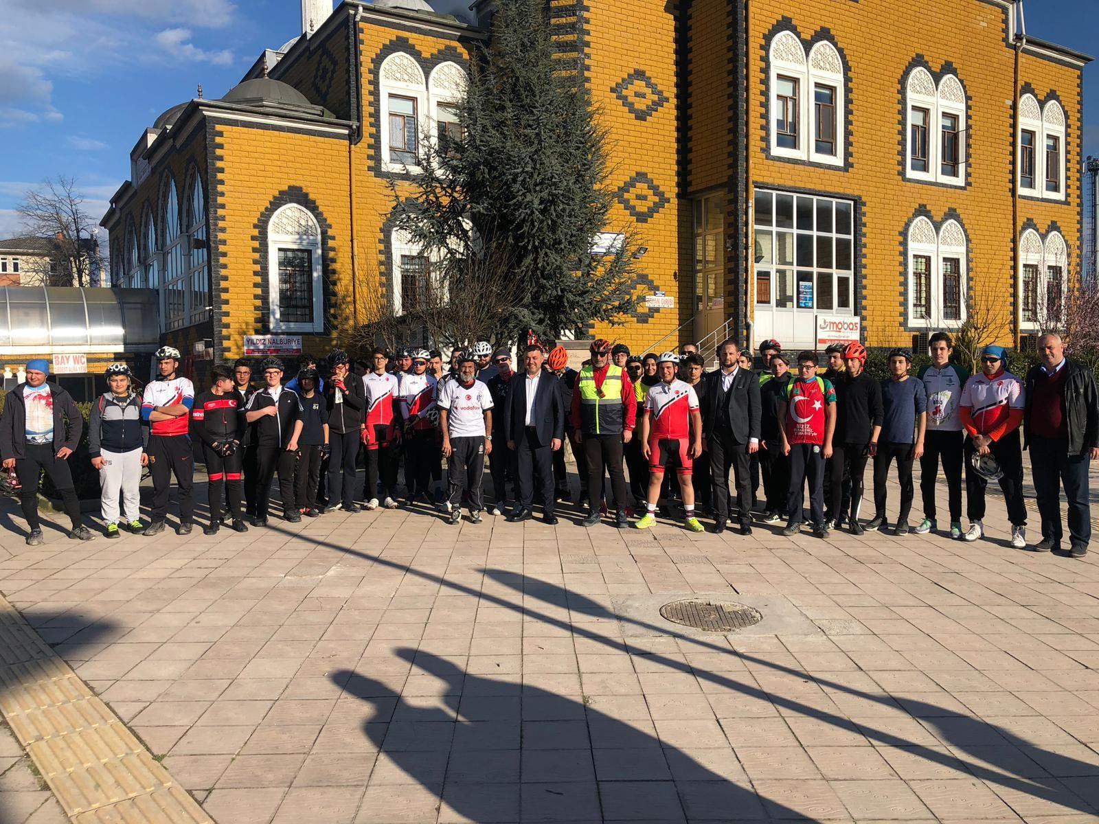 Düzce Bisiklet Kulübü İlçemizi Ziyaret Etti