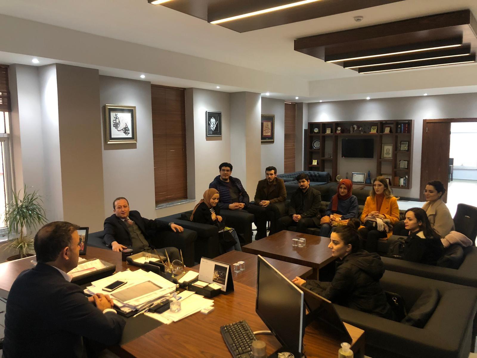 İlçemize Yeni Atanan Öğretmenlerden Başkan Yavuza Ziyaret