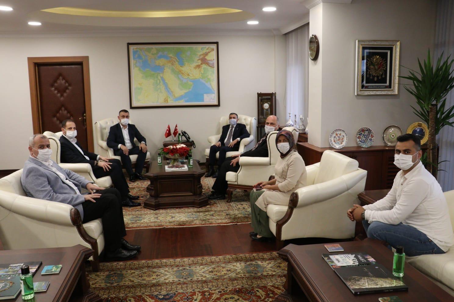Başkan Yavuz, Vali Cevdet Atay a hayır olsun ziyaretinde bulundu