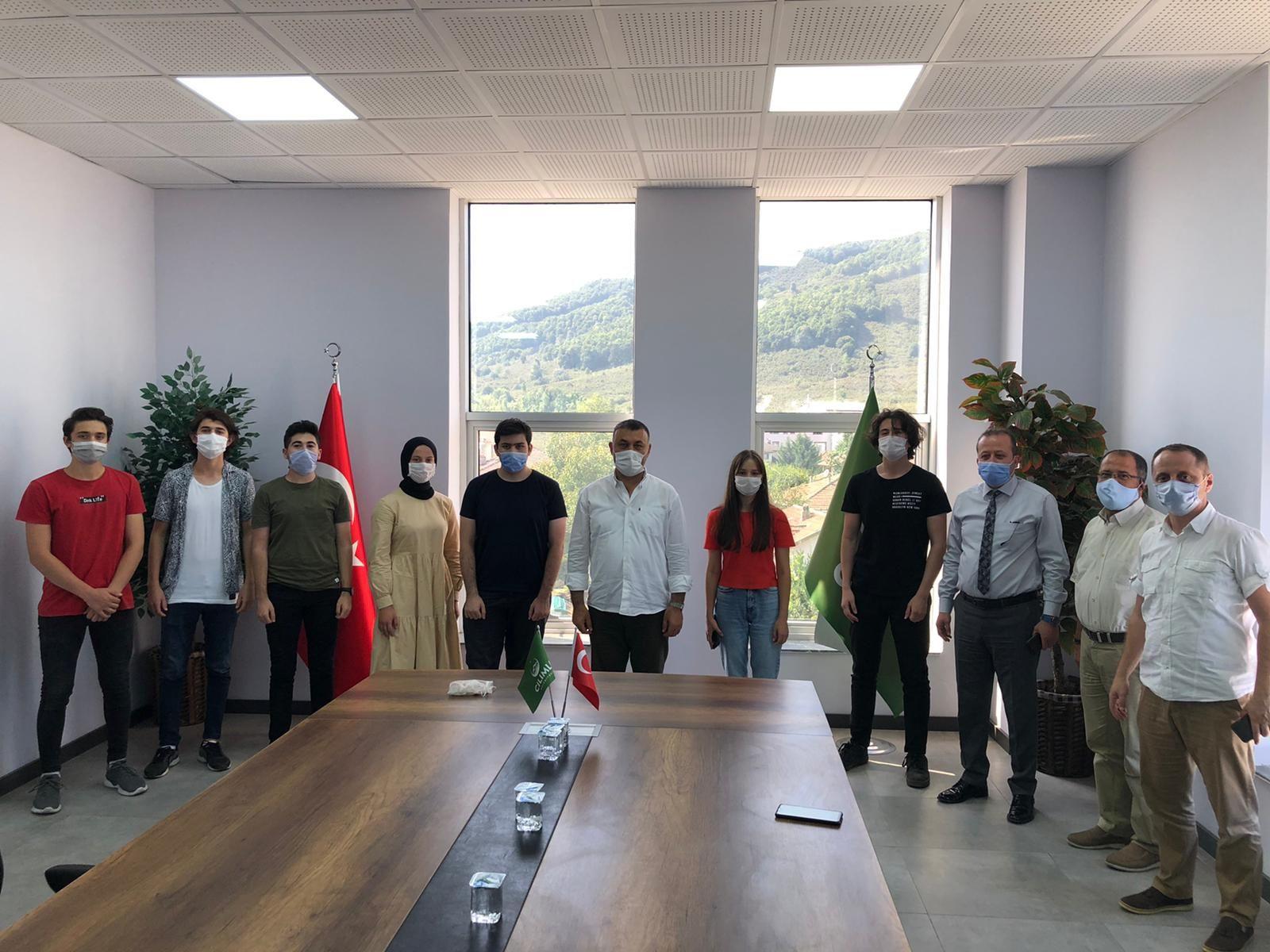 Başkan Yavuz YKS de Başarılı Olan Öğrencilerle Bir Araya Geldi